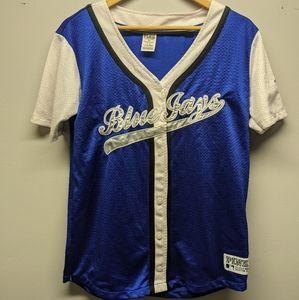 PINK by VS Toronto Blue Jay Jersey Shirt Button Up
